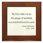 George Washington 9 Framed Tile