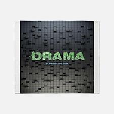 Drama 3-D squares Throw Blanket