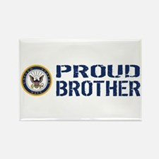 U.S. Navy: Proud Brother (Blue & Rectangle Magnet