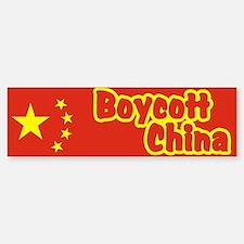 Boycott China Bumper Bumper Bumper Sticker