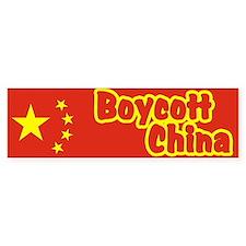 Boycott China Bumper Bumper Sticker