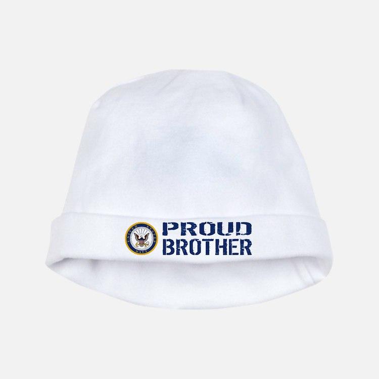 U.S. Navy: Proud Brother (Blue) baby hat