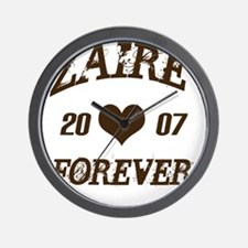 Zaire Forever Wall Clock