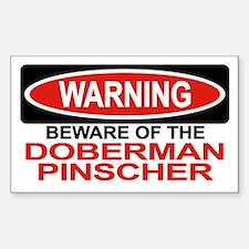 DOBERMAN PINSCHER Rectangle Decal