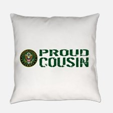 U.S. Army: Proud Cousin (Green & W Everyday Pillow