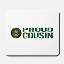 U.S. Army: Proud Cousin (Green & White) Mousepad