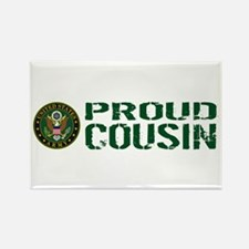 U.S. Army: Proud Cousin (Green & Rectangle Magnet