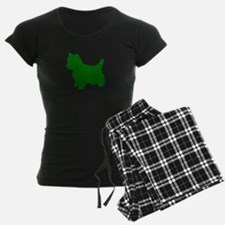 Cairn Terrier Green 1 Pajamas