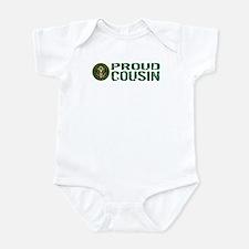U.S. Army: Proud Cousin (Green) Infant Bodysuit
