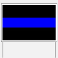 Police: The Thin Blue Line Yard Sign