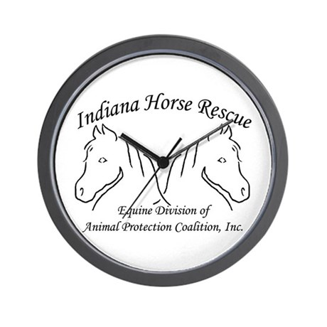 Indiana Horse Rescue Wall Clock