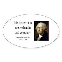 George Washington 10 Oval Decal