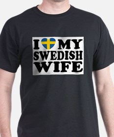 I Love My Swedish Wife Ash Grey T-Shirt