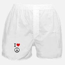 I love peace Boxer Shorts