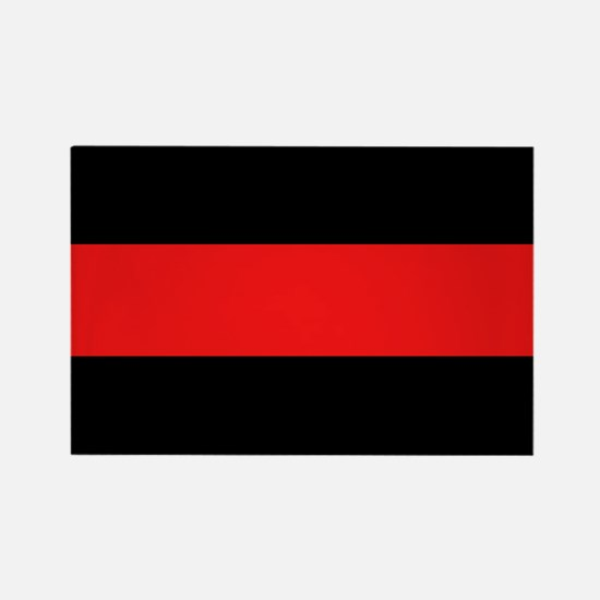 Firefighter: Red Line Rectangle Magnet