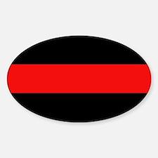 Firefighter: Red Line Sticker (Oval)