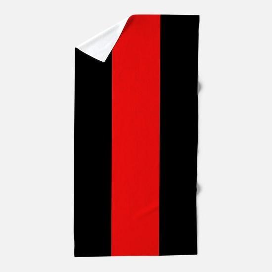 Firefighter: Red Line Beach Towel