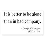 George Washington 10 Rectangle Sticker
