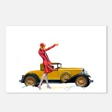 Fast Car and Flapper Lady Postcards (Package of 8)