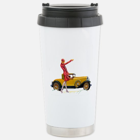 Fast Car and Flapper La Stainless Steel Travel Mug