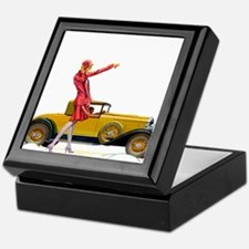 Fast Car and Flapper Lady Keepsake Box