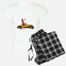 Fast Car and Flapper Lady Pajamas