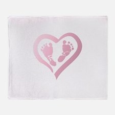 Baby Prints in Heart by LH Throw Blanket
