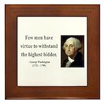 George Washington 11 Framed Tile