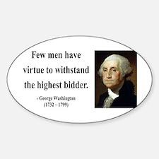 George Washington 11 Oval Decal