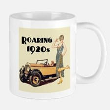 Flapper Lady and Fast Car - slogan Mugs