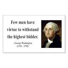 George Washington 11 Rectangle Decal