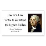 George Washington 11 Rectangle Sticker