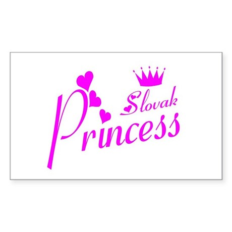 Slovak Princess Rectangle Sticker