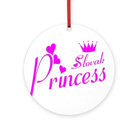 Slovak Princess Ornament (Round)