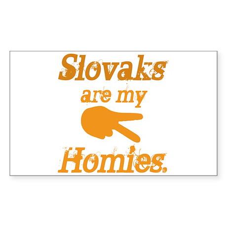 Slovaks are my Homies Rectangle Sticker