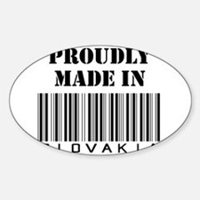 Proudly Made in Slovakia Oval Decal