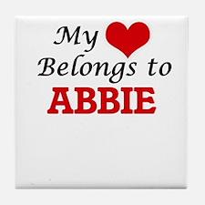 My heart belongs to Abbie Tile Coaster