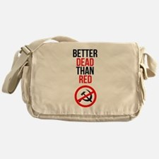 Better Dead than Red Messenger Bag