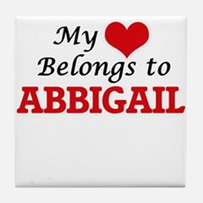 My heart belongs to Abbigail Tile Coaster