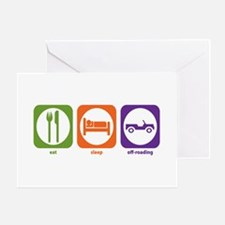 Eat Sleep Offroad Greeting Cards