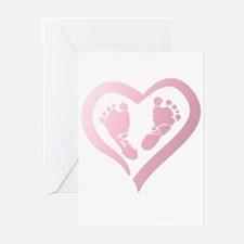 Baby Prints in Heart by LH Greeting Cards