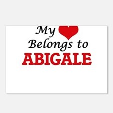 My heart belongs to Abiga Postcards (Package of 8)