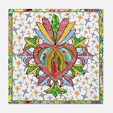 Virgin of Guadalupe Milagro Tile Coaster