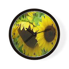 Sun Flowers Wall Clock