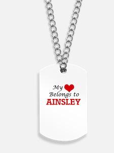 My heart belongs to Ainsley Dog Tags