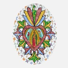 Virgin of Guadalupe Milagro Oval Ornament