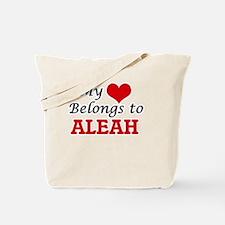 My heart belongs to Aleah Tote Bag