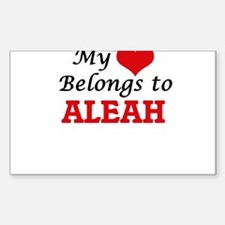 My heart belongs to Aleah Decal