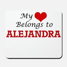 My heart belongs to Alejandra Mousepad