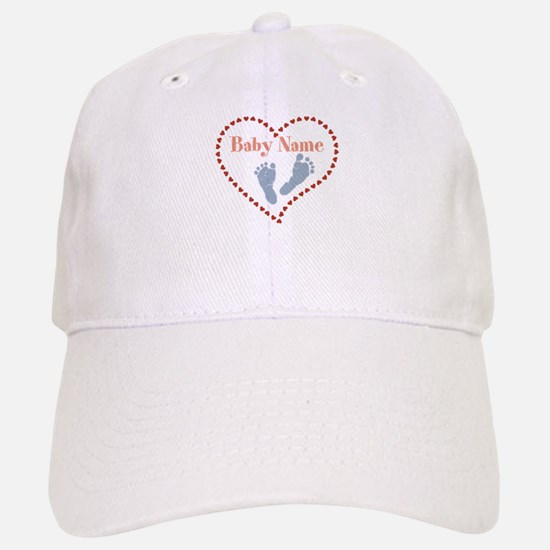 Baby Feet and Heart Baseball Cap